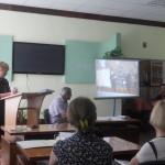 Брантюк М.Г. дає аналіз виховної роботи за 2013-2014н.р.