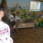 Початок святкової лінійки до Дня української мови і писемності