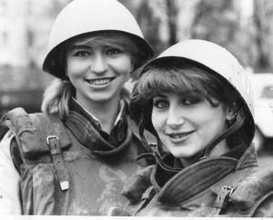 На військово-патріотичних змаганнях (1982-1983рр.)